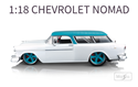 Picture of Chevrolet NOMAD Die-Cast Model WHITE//BLUE [Scale 1:18]
